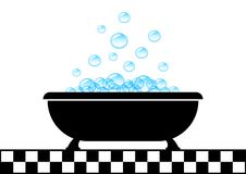 Bathtub icon Stock Photography