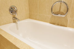 Bathtub in a luxurious hotel room Stock Image