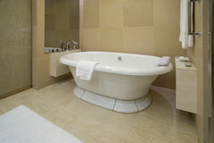 Bathtub in a luxurious hotel room Royalty Free Stock Photo