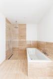 Bathtub of a modern bathroom Royalty Free Stock Photography