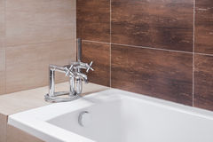 Bathtub with old style tap Stock Image