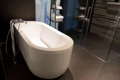 Bathtub is oversized and luxurious, Luxury bathroom interior idea. With bathtub is oversized and luxurious, Luxury bathroom interior idea stock photos