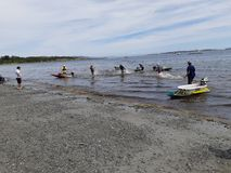 Bathtub Race competitors royalty free stock photography