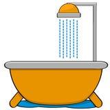 Bathtub with shower Stock Image
