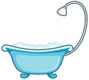 Bathtub with shower Stock Photos