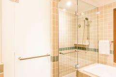 Bathtub and shower box Stock Photography