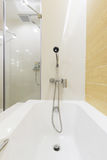 Bathtub shower. Are ready for new arrival customer Royalty Free Stock Photography