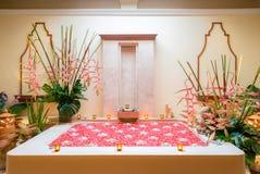 Bathtub in Spa room Stock Photo