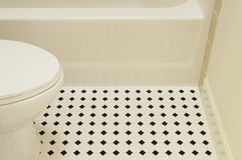 Bathtub And Toilet Royalty Free Stock Photography
