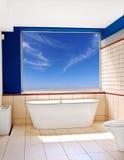 Bathtub view stock photography