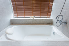 Bathtub white ceramic interior royalty free stock photography