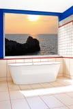 Bathtub window royalty free stock images