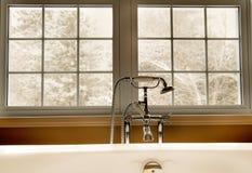 Bathtub with window Stock Photography