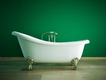 Bathtube. Classic bathtube in a room royalty free illustration
