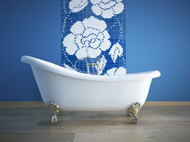 Bathtube. Classic bathtube in a room stock illustration