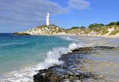 Bathurst Lighthouse, Western Australia. Bathurst Lighthouse is located on Rottnest island, off Perth Western Australia Stock Images