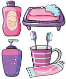 Bathware items Royalty Free Stock Images