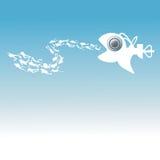 Bathyscaphejakter på undervattens- dykare Royaltyfria Foton