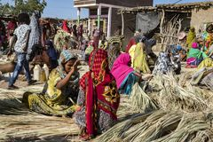 Bati rynek, Etiopia zdjęcie royalty free