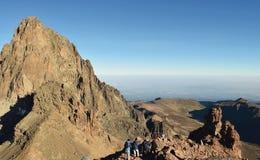 Batian Mount Kenya Arkivbild