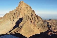Batian Mount Kenya Royaltyfri Foto