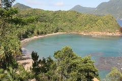 batibou海滩加勒比多米尼加 免版税库存照片