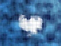 Batic heart background royalty free stock photos