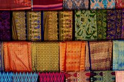 Batic sarongs in Lombok, Indonesia Royalty Free Stock Images