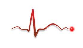 Batida abstrata de um coração Fotos de Stock