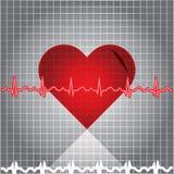 Batida de coração de Ekg Fotografia de Stock