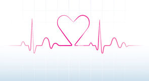 Batida de coração Imagens de Stock