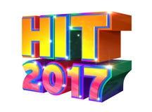 Batida 2017 - logotipo 3d imagens de stock