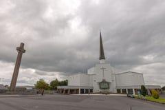 Batida, Mayo, Irlanda ` S Marian Shrine nacional da Irlanda em Co Mayo, visitado perto sobre 1 5 milhões de pessoas todos os anos fotografia de stock