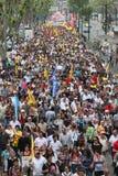 Batida pública turca dos trabalhadores Fotografia de Stock