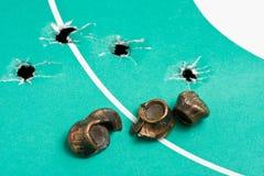 Batidas e balas gastas Imagens de Stock Royalty Free