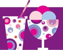 Batido colorido del helado y de leche - 1 Imagen de archivo libre de regalías