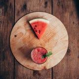 Batido da melancia no estilo do rusitc Imagem de Stock
