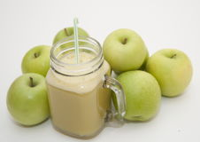 Batido de Apple Fotografia de Stock Royalty Free