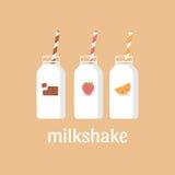 Batido de leche del ejemplo del vector Fotografía de archivo