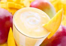Batido de leche del mango Foto de archivo libre de regalías
