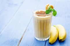 batido de leche del plátano Fotografía de archivo libre de regalías
