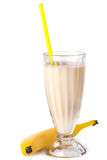 Batido de leche delicioso del plátano Imagen de archivo