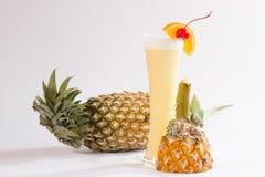 Batido do abacaxi Fotografia de Stock