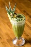Batido do abacaxi no vidro Foto de Stock