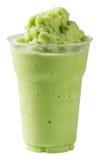 Batido do chá verde do leite imagens de stock royalty free