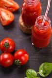 Batido dos tomates Imagem de Stock Royalty Free