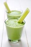 Batido vegetal verde Imagens de Stock