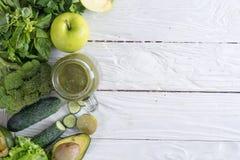 Batido verde da desintoxicação Imagem de Stock