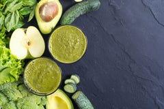 Batido verde da desintoxicação Fotografia de Stock