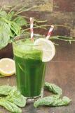 Batido verde dos espinafres Imagem de Stock